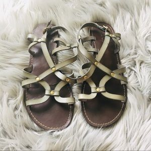 Aldo light Turquoise genuine leather sandals